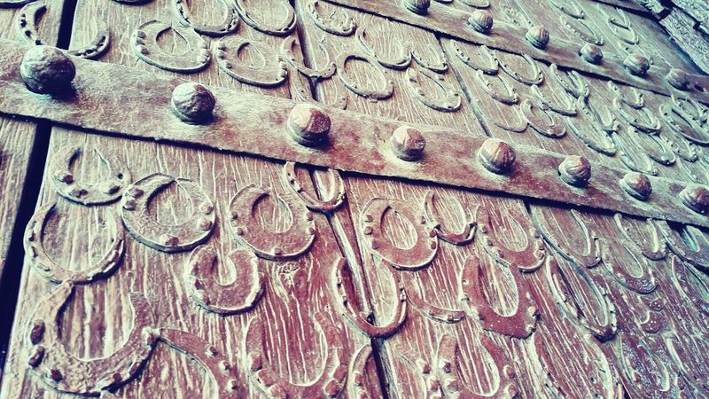 Door With Horse Shoe Fatehpursikri Emperor Akbar India