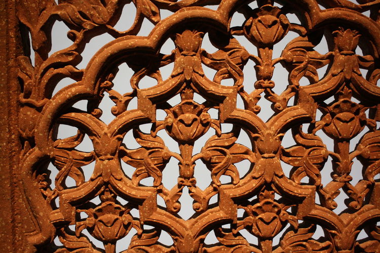 Ornament Backgrounds Carving Close-up Day Full Frame Indoors  Low Angle View No People Stone Screen