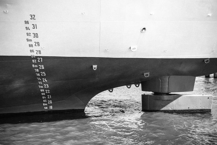 Blackandwhite Close-up Day Freight Transportation Nautical Vessel No People Outdoors Transportation Water Waterline B&w Photography B&W Collection