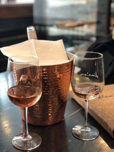 A glass wine on a cold winter day. Ice Bucket Alcohol Wineglass Wine Drink Drinking Glass Food And Drink Refreshment Alcoholic Drink Table No People Close-up Indoors