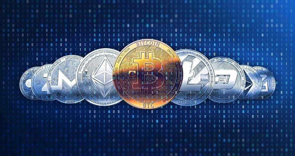 Bitcoin Litecoin Mining Text Close-up Communication Blue Star - Space No People Day
