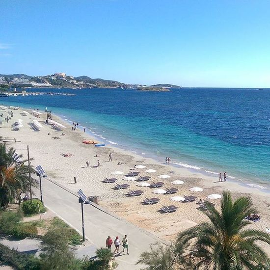 Would be nice to be back here 😍🌞🌊🎧🎶🍹 Ibiza Playadenbossa Takemeback Holiday Fun Music Dancing Party Funtimes Beach Been There.