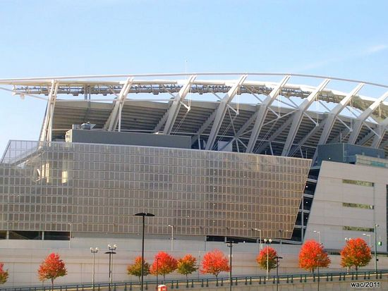 Paul Brown Stadium Football Stadium Cincinnatibengals Fall Colors Architecture