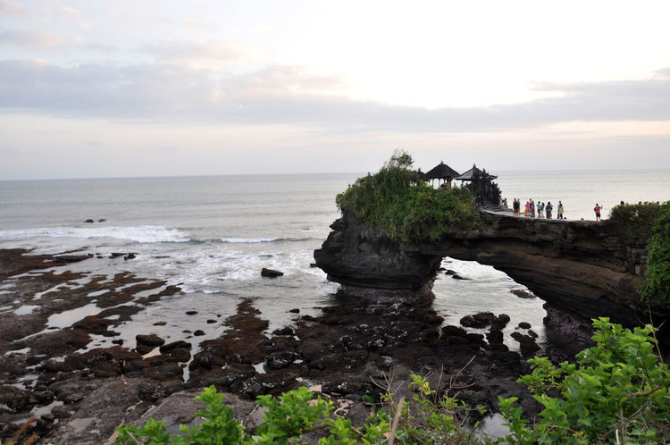 #Bali #Beraban #puratanalot #tanahlot Beach Beauty In Nature Cloud - Sky Day Eb High Tide Horizon Over Water Nature No People Outdoors Scenics Sea Sky Temple Tranquil Scene Tranquility Water