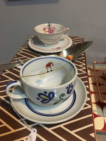 Visual Feast Table Indoors  High Angle View Saucer Plate No People Teapot Food And Drink Tea - Hot Drink Close-up Day Freshness