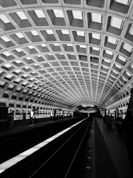 Washington DC metro Washington, D. C. DC Metro Station Subway Train White Blackandwhite Blackandwhite Photography Black And White View Nice USA United States America Life Beutiful  Photography Maryland Underground