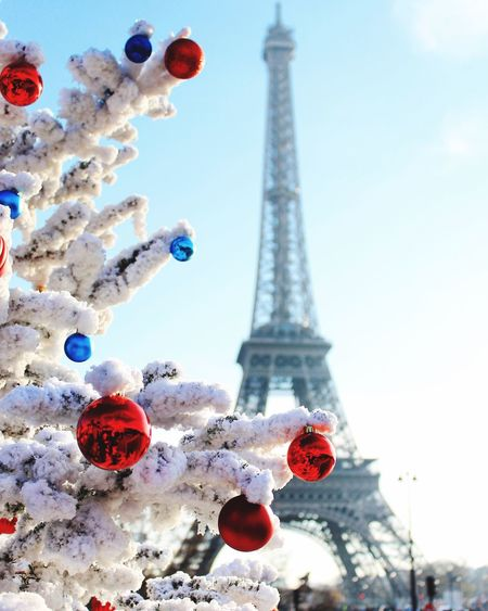Capital Cities  City Eiffel_tower  International Landmark Paris Sky Snow Tourism Tower Travel Travel Destinations Vacations Winter Xmas