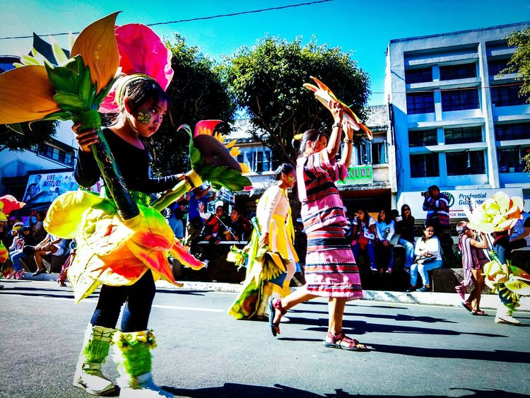 Fun Celebration Multi Colored Real People Performance Colors PanagbengaFestival Panagbenga Flowers People Outdoors Day Carnival Crowds And Details EyeEm The Street Photographer - 2017 EyeEm Awards
