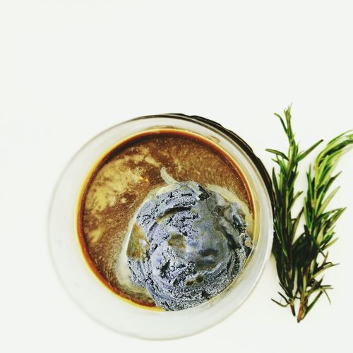 Coffee Nitrocoffee Affogato Drink White Background Icecream Charcoal