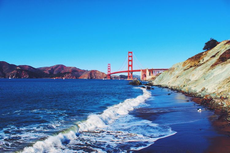 Golden Gate Bridge Ocean View Bay Area Cali California Coast Beach Baker Beach Pacific Ocean Waves EyeEm Best Shots EyeEm Nature Lover Eye4photography  EyeEm Best Edits EyeEm Gallery EyeEm Best Shots - Landscape EyeEm