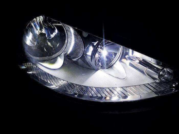 Headlight #Iphoneography #headlightofcars #carlights Black Background No People Shiny Table Studio Shot Close-up