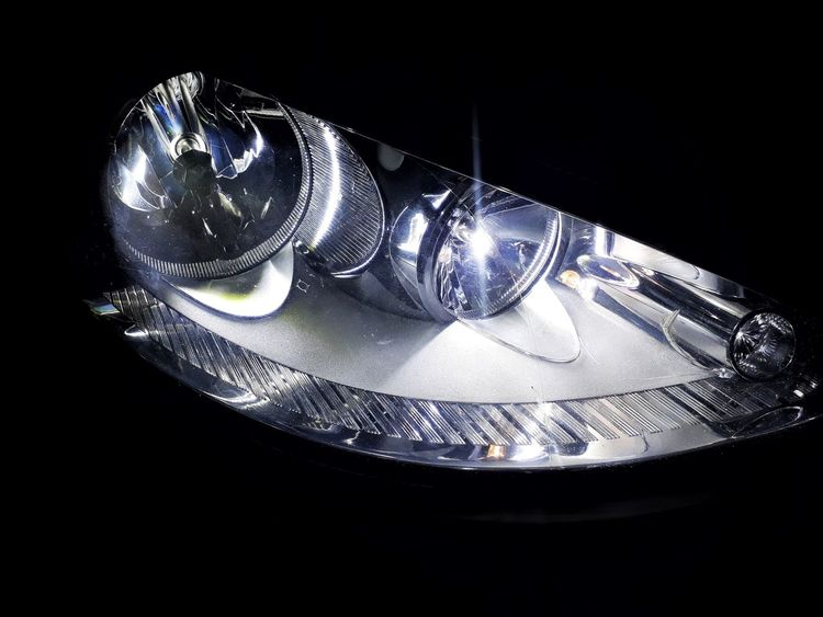 Headlight #Iphoneography #headlightofcars #carlights Black Background No People Shiny Table Studio Shot Close-up