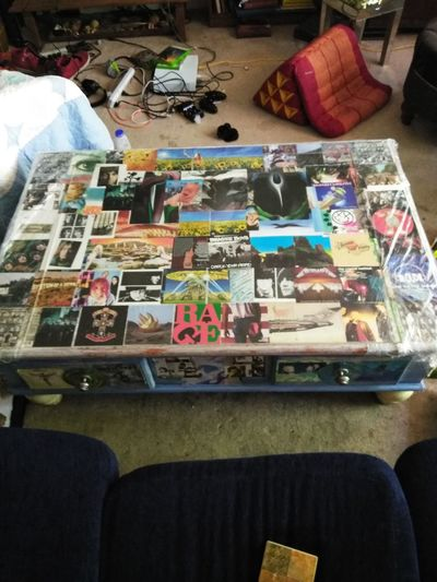 Can u find the music u like????? created by me in 2015 used Goergia Okkeef for filler coffee table! Original Decopage Badass Living Room Rest Love Freshness Musician Music Suicide Multi Colored Choice Variation Business Finance And Industry Retail  For Sale Close-up Prepared Food Woodwind Instrument Blooming Record Player Needle Flower Head Musical Instrument Gramophone Petal Audio Equipment