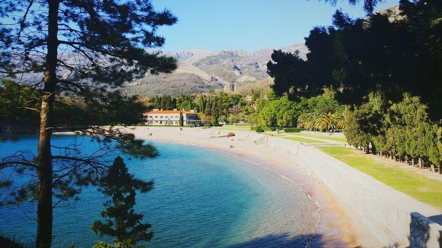 Budva Montenegro Beautiful Day Nature Beach Sea Trees Amanresorts Budva,Montenegro Walking