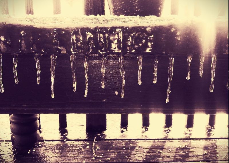 Was a chilly morning! Check This Out Pretty Ice Porch View Winter Cold Water Day No People Close-up