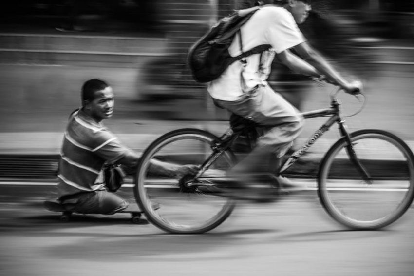 Need For Speed Capture The Moment Eyeem Market Street Photography Blackandwhite Photography Bestfriend Let's Go. Together.