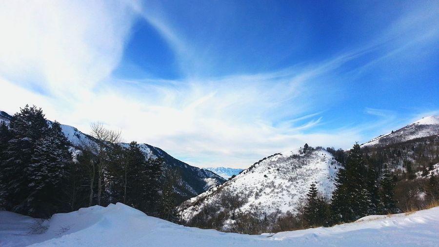 Mountains Wintertime Snow Salt Lake City