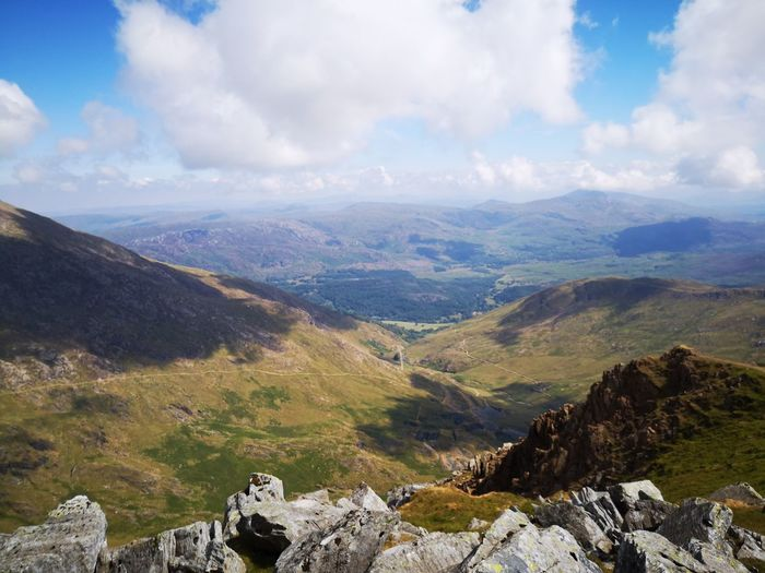 view from snowden Huaweiphotography Huawei P20 Visitwales Wales Snowdonia EyeEm Selects Mountain Pinaceae Hiking Tree High Angle View Sky Landscape Mountain Range Cloud - Sky Valley Geology Rock Formation Rocky Mountains