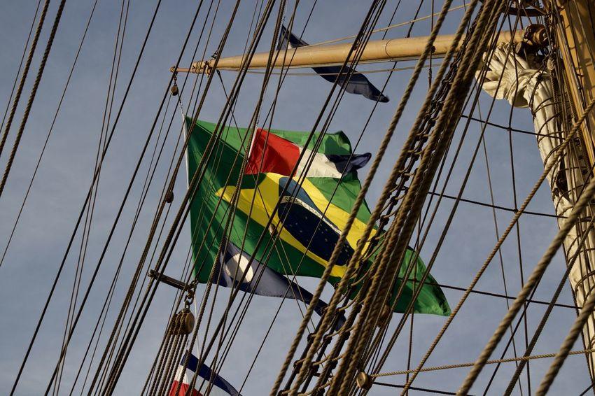 HanseSail Rope Block Boom Brasil Brasilian Cisne Branco Day Flagg Low Angle View Mast Nautical Vessel No People Outdoors Sail Sailing Ship Sky Stay Tallship Vessel The Week On EyeEm EyeEmNewHere