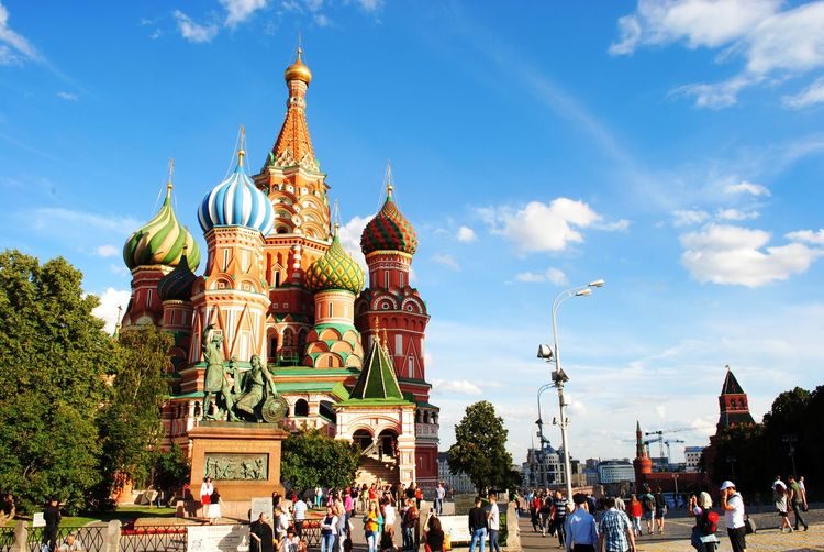 The Cathedral of Vasily the Blessed or Saint Basil's Cathedral, is a church in Red Square in Moscow, Russia. Cathedral Moscow Russia St Basil's Cathedral UNESCO World Heritage Site Architecture Building Building Exterior Built Structure History Redsquare Travel Travel Destinations Trinity Church