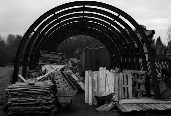 Tree Day Outdoors Nature Sky Mining Equipment History Through The Lens  Lancashire Coalfield Mining Heritage Coal Mine Mining History Architecture Semi-circular Metal Wood Wood - Material Black And White Friday