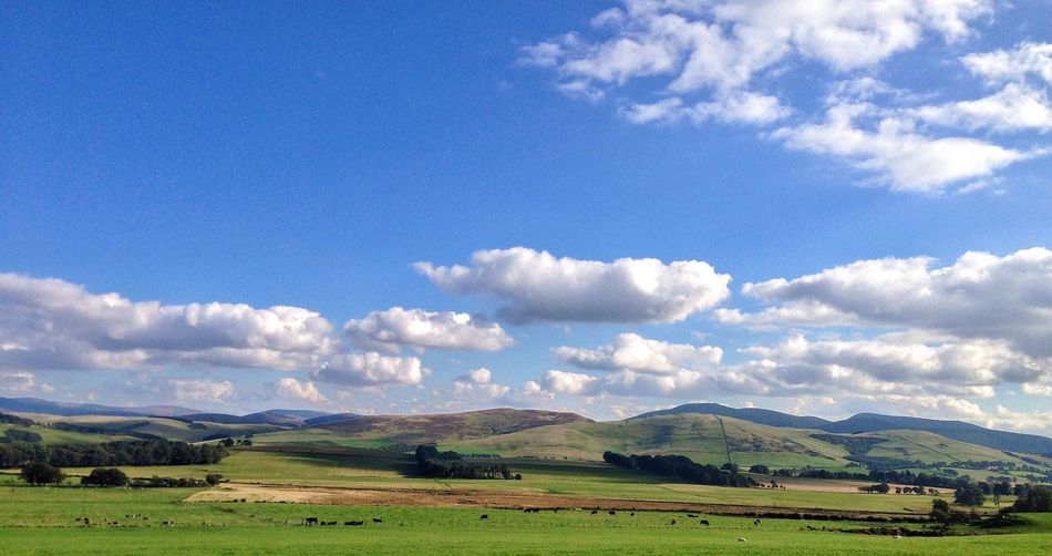 Beautiful Border country Scotland Scottish Borders Mountains Today