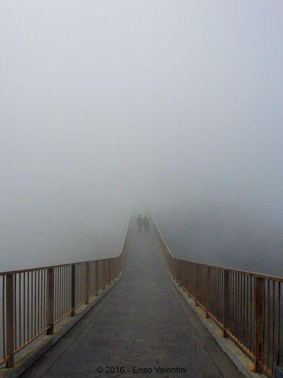 Bridge that ends in the fog Architecture Bridge Bridge - Man Made Structure Civita Di Bagnoregio Diminishing Perspective Fog Foggy Outdoors The Way Forward Weather EyeEmNewHere