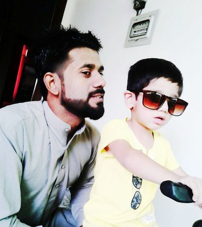 Two People Casual Clothing Father And Son Time FatherSonMoments My Son ❤ Child Sunglasses Front View Love My Son