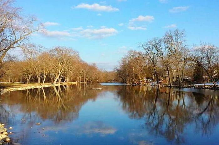 Reflection River Reflection Fox River Burlington, WI Water Reflections
