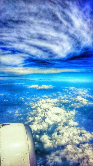 Sky-blue-air-short holiday-landscape- airplain-trip