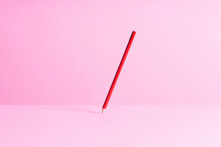 Red pencil over
