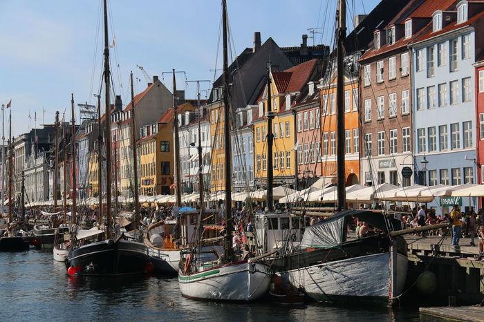 Danmark Kopenhagen nyhavn, sailboats, Harbor, sun , Sunshine , landscape, Water, Sky Blue, The Essence Of Summer- 2016 EyeEm Awards