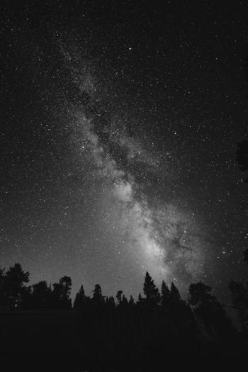 Camping Deep Space EyeEm Best Shots EyeEm Nature Lover Feeling Thankful Nature Top Astronomy Black And White Eye4black&white  Eye4photography  Inspiration Milky Way Monochrome Mountain Universe