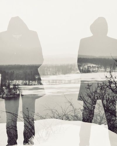 First Eyeem Photo Valhalla Double Exposure Winter Artistic Photo Artphoto Sweden Snow Trees Wintertime