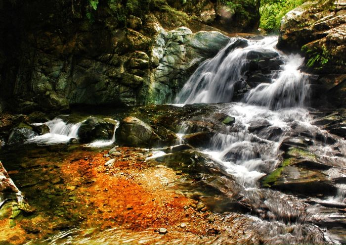 Waterfall Nature Ecuador Traveling Pacto, cascada de agua cristalina
