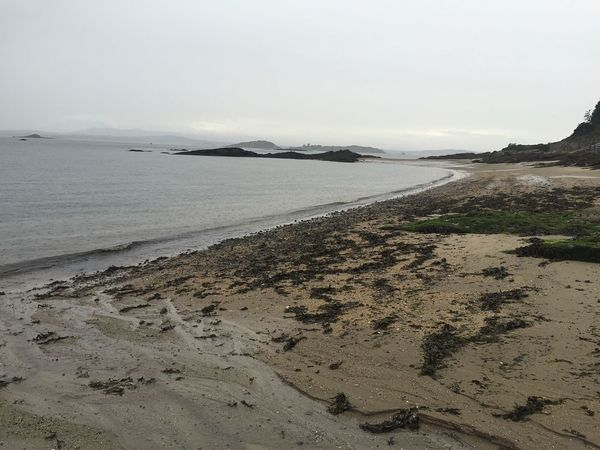 Scotland Holiday Tranquil Scene Stormy Seas Scenics Beauty In Nature Shore Clear Sky Coastline Ocean Seascape Aberdour Tranquility Grey Low Angle View