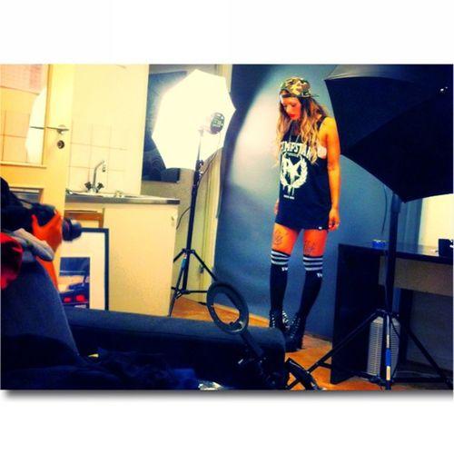 Backstage @pimpstarlife Photoahoot today :)