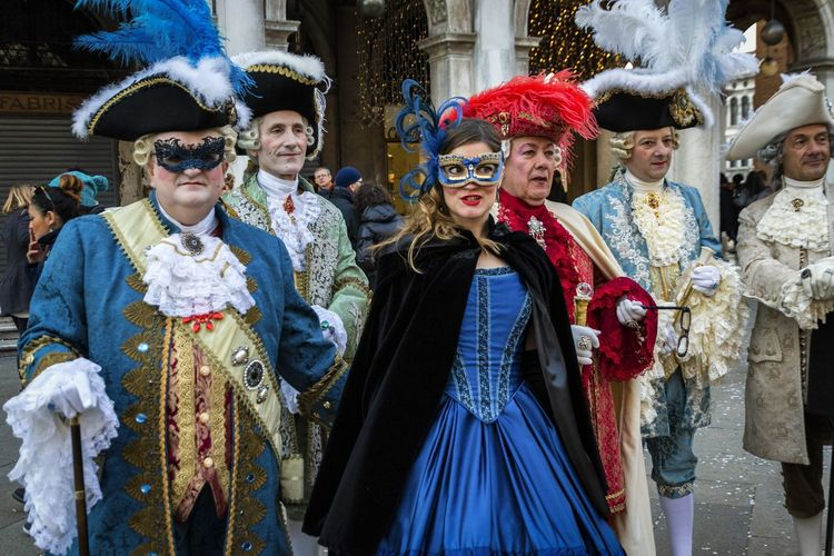 Carnival in Venice 2017 Carnival Disguise Fun Lifestyle Tradition Arts Culture And Entertainment Carnival - Celebration Event Celebration Costume Costumes Cultures Front View Leisure Activity Looking At Camera Mask - Disguise Performance Portrait Sexygirl Smiling Togetherness Tradition Traditional Clothing Venetian Mask Venice Young Woman