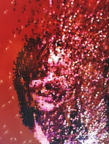 Fading face EyeEmNewHere Bubbles Person Fading Away Brown Shades Of Red Screen Pop Coco Cola Red