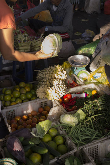 Asian Culture Bali Indonesian Vivid Colours  Balinese Day Food Freah Produce For Sale Freshness Fruit Healthy Eating Large Group Of Objects Market Market Stall Outdoors Pasar People Real People Southeast Asia Street Photography Ubud Vegetable Vibrant Color Women