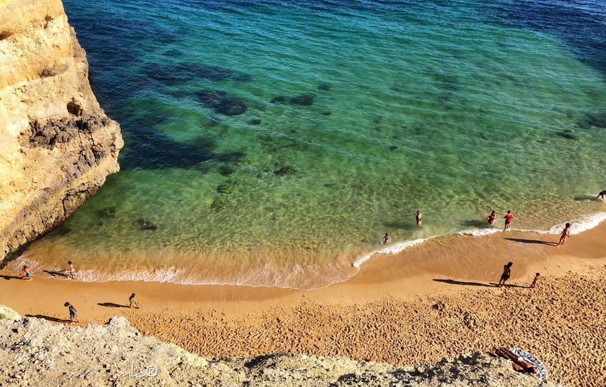 Magic Algarve Algarve Beach Landscape Beauty In Nature Travel Destinations Bestoftheday EyeEm Best Shots Photography Beach Sea Water Land Sand High Angle View Nature Tranquility Tranquil Scene