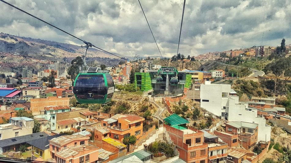 on my way Cable Car Cable Way Bolivia Mountain Cables And Wires Landscape Bolivian La Paz, Bolivia Cityscape Andes Cityscape City Technology