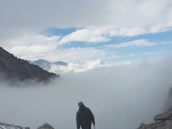 Here , above the clouds dancing never stops Hikingadventures Explore Discover  Mountain Hiking Trekking Mountains Mountain Lover Clouds And Sky