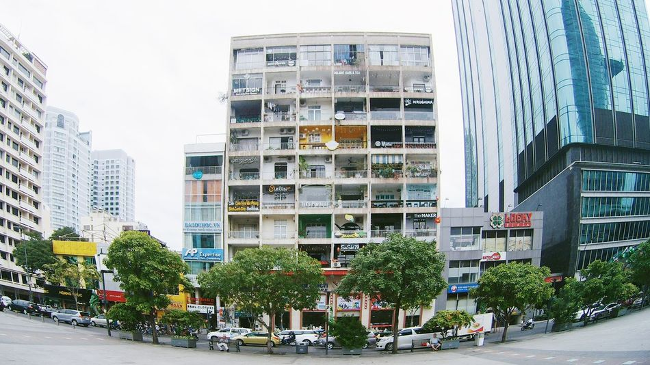 Architecture Building Exterior Built Structure Business Finance And Industry Cafe Cafe Time City City Life Cityscape Day District Downtown District Façade Modern No People Office Office Building Exterior Outdoors Relax Relaxing Sky Skyscraper Tree Vietnam Vietnamese