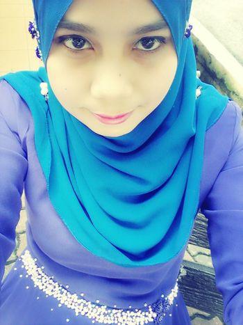 asyaii tembam muke sye nie..purple + biru..