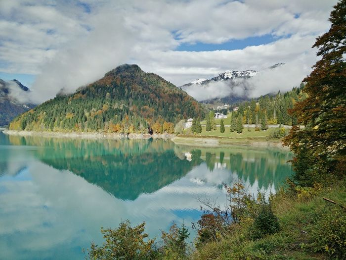 Lake in the morning Lake View Mountain View Sauris Autumn Colors Water Reflections