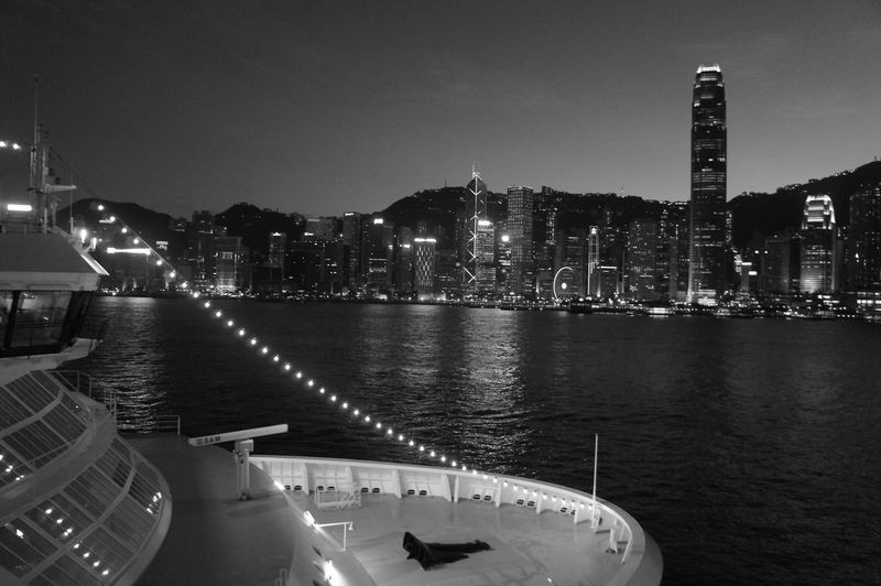 Pearl Of The Orient Tourist Attraction  Black And White Photography Black And White Wandering Around Aimlessly ASIA Hongkong Photos Hong Kong Victoria Harbour Victoria Harbour I Love Hong Kong Black & White Hongkongnight Hong Kong Style Feel The Journey pmg_hok Battle Of The Cities