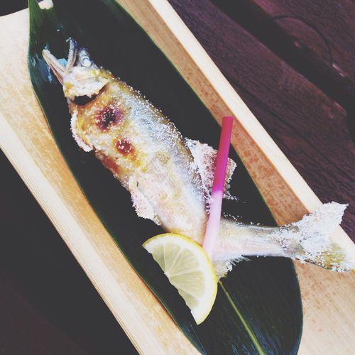 鮎-ayu-sweetfish Sweetfish is in season now. grilled with salt Gifu Nagaragawa 鮎 塩焼き Sweetfish Fish 長良川