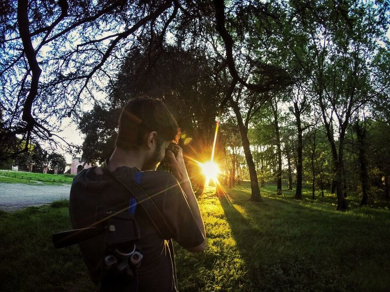 Lens Flare Adult Tree Protective Workwear Grass One Person Nature People Sunlight Outdoors Adults Only Day Holding Skill  Standing Men Technology Only Men One Man Only Young Adult Nikond3300 Travel Light And Shadow High Angle View Shooting Photos