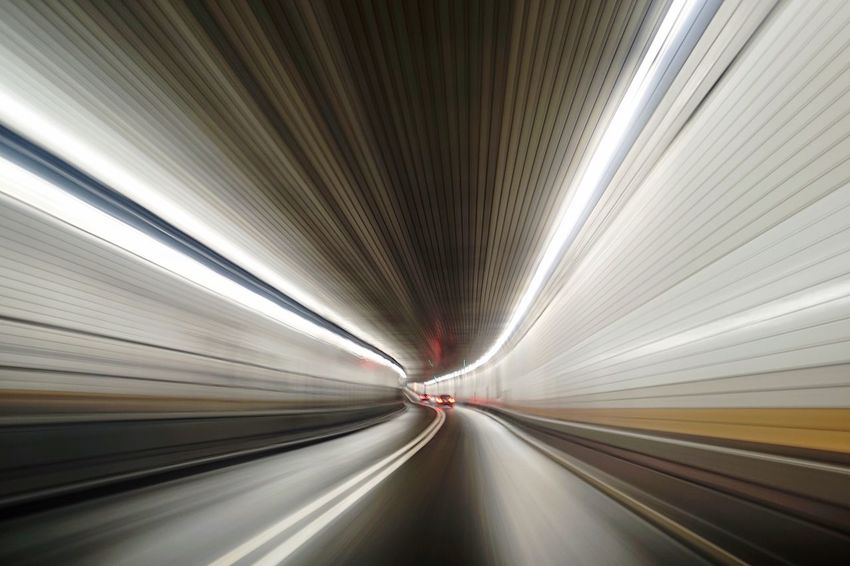 Tunnel NYC Zoom Drive Future Futuristic Warp Speed Speeding Technology Tech Internet Highway Supernormal Paranormal Road Driving Urban Brain Neurons